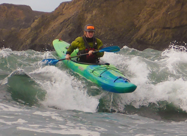 Liquid fusion Kayaking on the Pacific Ocean.